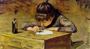 Telemaco Signorini Bambina che scrive
